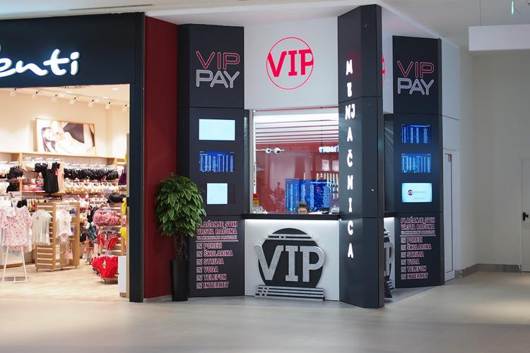Menjačnica VIP u novootvorenom shopping centru Ada Mall